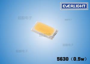 钱柜777娱乐_亿光贴片中等功率LED 5630(0.5w) 指示灯、背光专