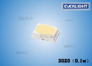 钱柜娱乐国际_亿光3020(0.1w)低功率LED 景观灯饰专用贴片LED
