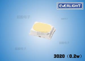 钱柜娱乐_亿光3020(0.2w)贴片灯珠参数 低功率LED 指示灯专