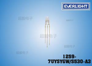 钱柜娱乐_亿光直插LED灯珠 1259-7UYSYGW/S530-A3 监控专用LED二极