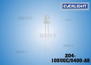 钱柜娱乐111_亿光白发绿LED 204-10SUGC/S400-A5 监控专用插件LED