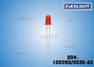 钱柜娱乐国际_亿光高亮插件LED 204-10SURD/S530-A3 电话机专用LED