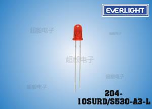 钱柜娱乐_亿光F3高亮LED 204-10SURD/S530-A3-L 智能电表专用插件