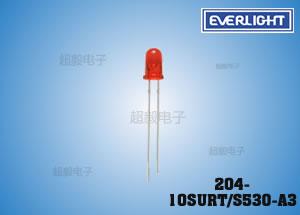 钱柜777娱乐_亿光3mm直插LED 204-10SURT/S530-A3 计算机专用LED