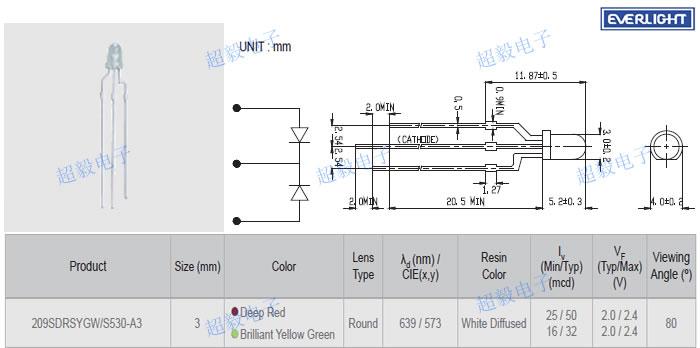 220v双色led灯报警灯接线图