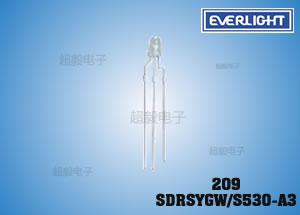 钱柜娱乐_亿光双色插件LED 209SDRSYGW/S530-A3 监视器专用LED