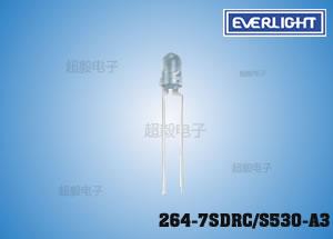 钱柜娱乐111_亿光高亮度插件LED 264-7SDRC/S530-A3 屏幕专用LED